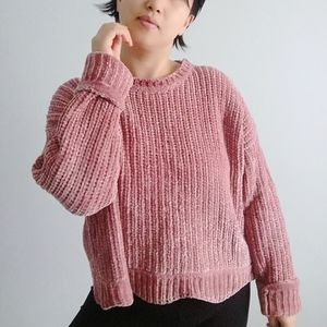 Zara Knit Chenille Sweater